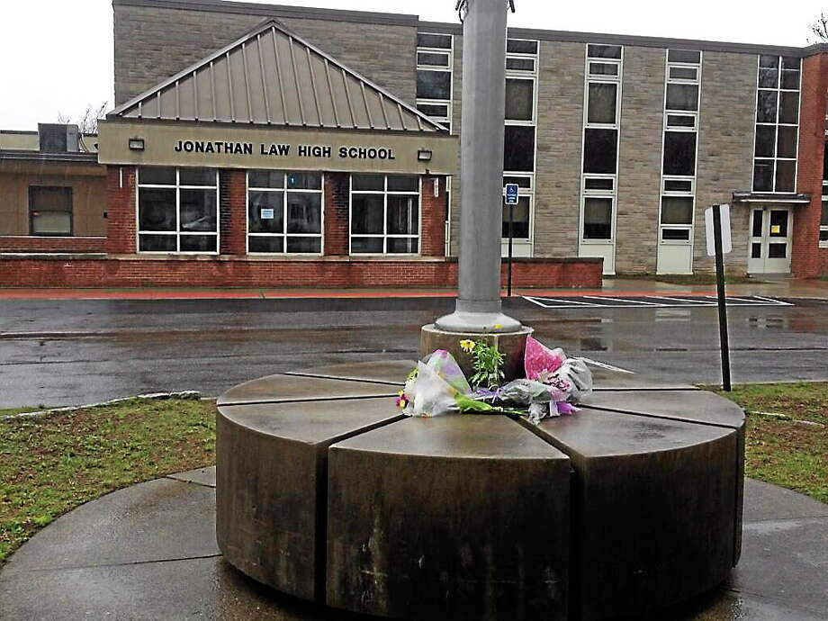 The exterior of Jonathan Law High School. Photo: Journal Register Co.
