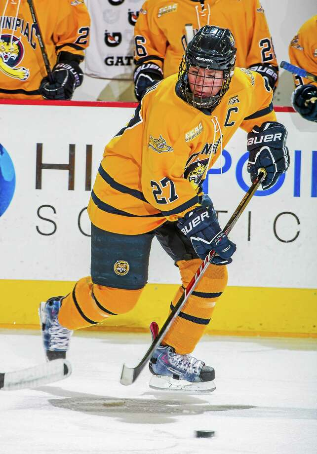 Senior Amanda Colin and Quinnipiac are hosting this year's Frozen Four. Now the Bobcats need to find a way to be a part of it. Photo: Photo Courtesy Of Quinnipiac Athletics   / Copyright John Hassett 2013. All rights reserved
