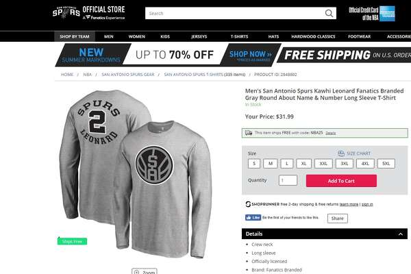 A new T-shirt  on the NBA Store  features a new Spurs logo.