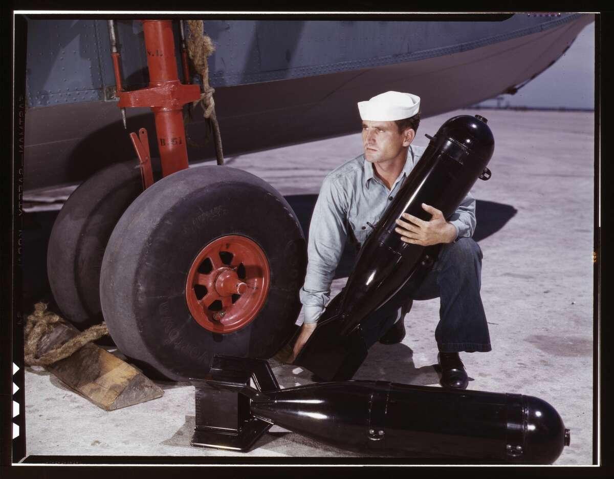 J.D. Estes at the Naval Air Base, Corpus Christi, Texas, 1942.