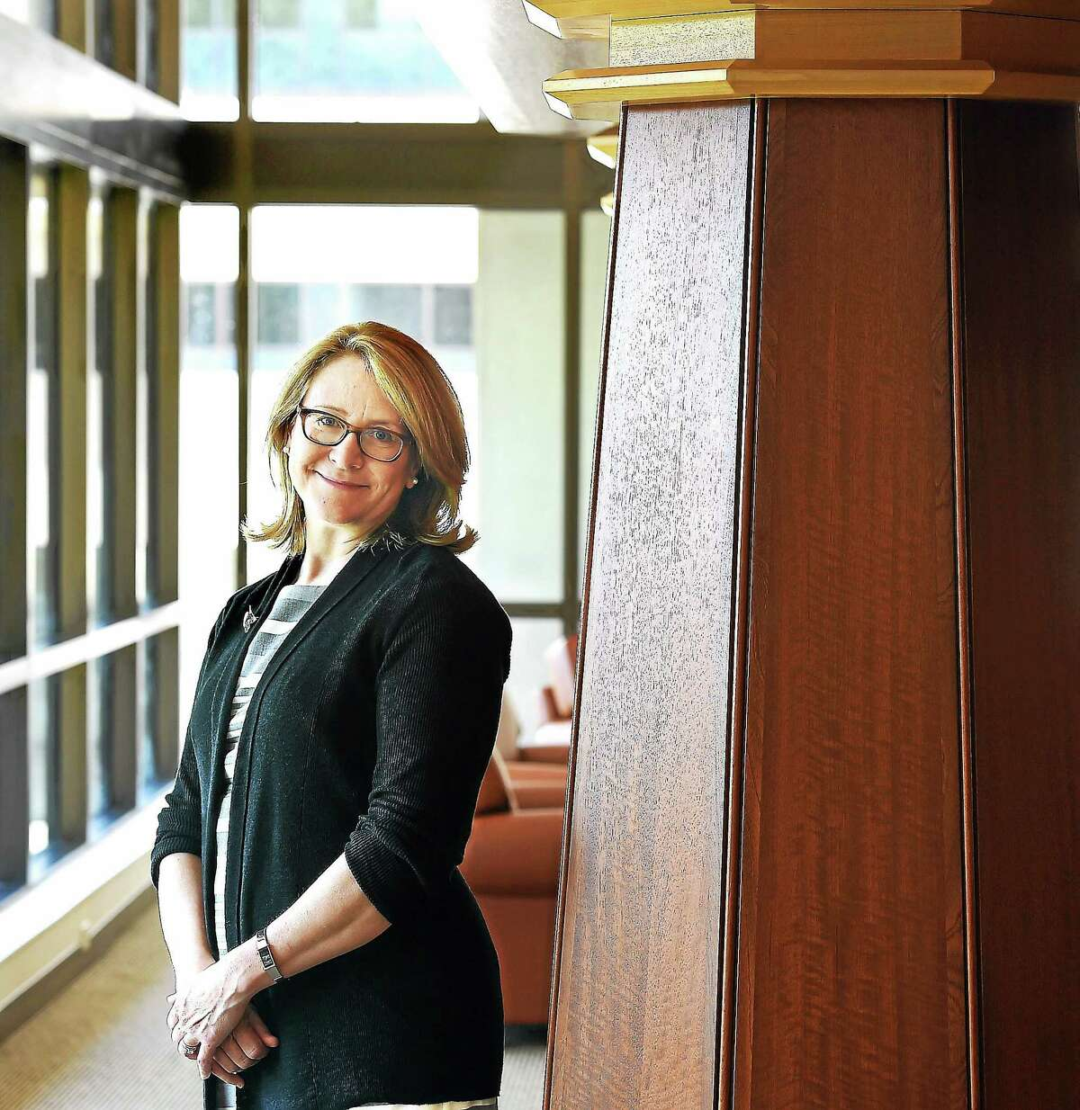 Quinnipiac University will be opening its new law school building on its North Haven campus. Law school Dean Jennifer Brown, pictured, gave the Register a sneak peak.