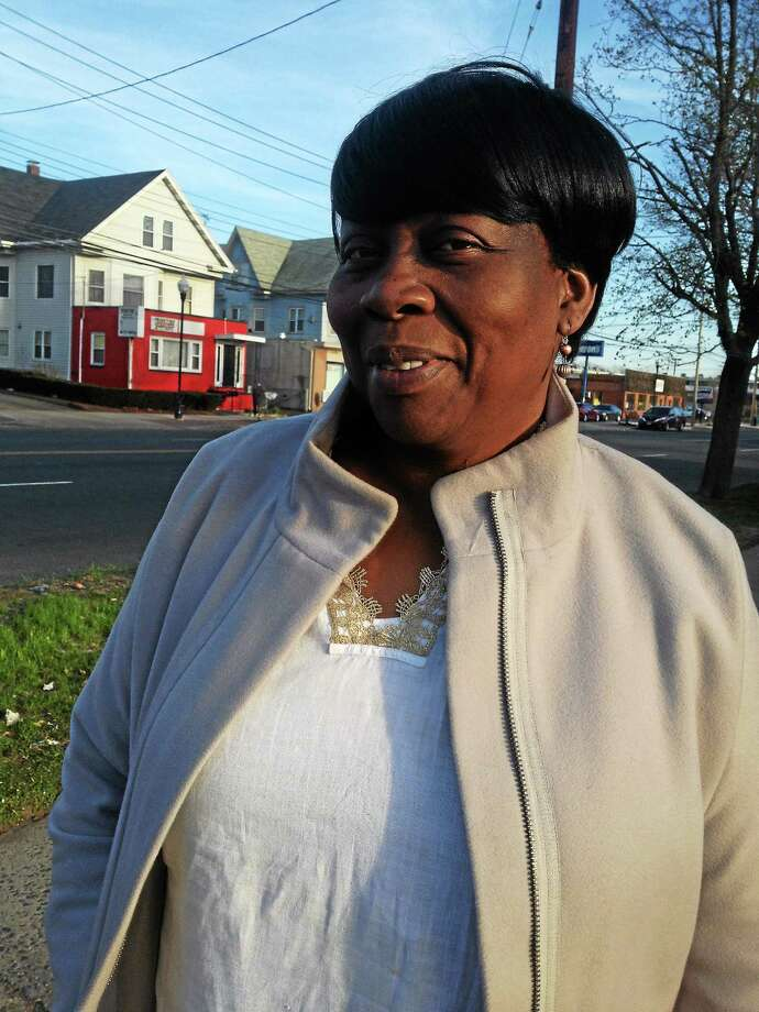 Berita Rowe-Lewis campaigns on Dixwell Avenue. Photo: Journal Register Co.