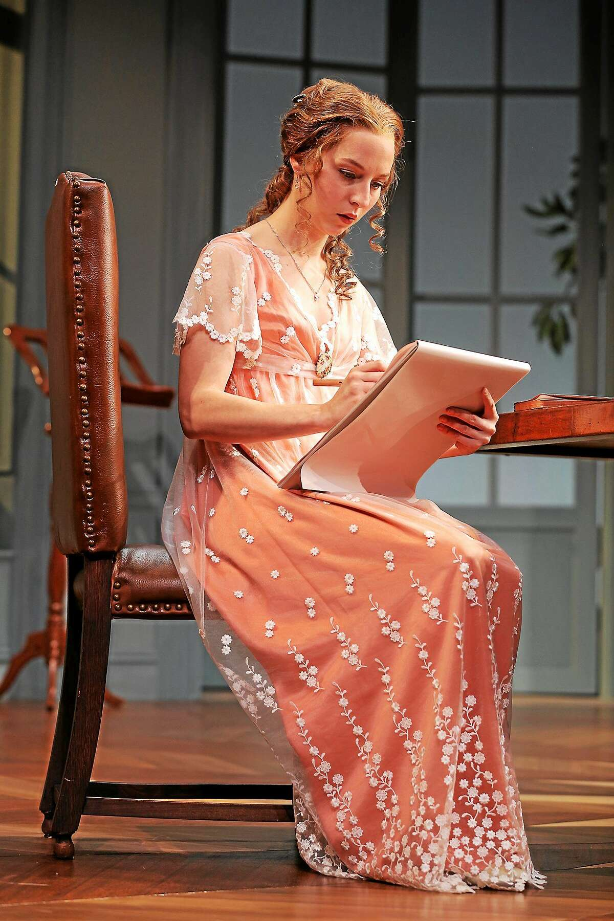 """Rebekah Brockman plays young Thomasina Coverly in Tom Stoppard's """"Arcadia,"""" now at Yale Repertory's University Theatre through Oct. 25."""