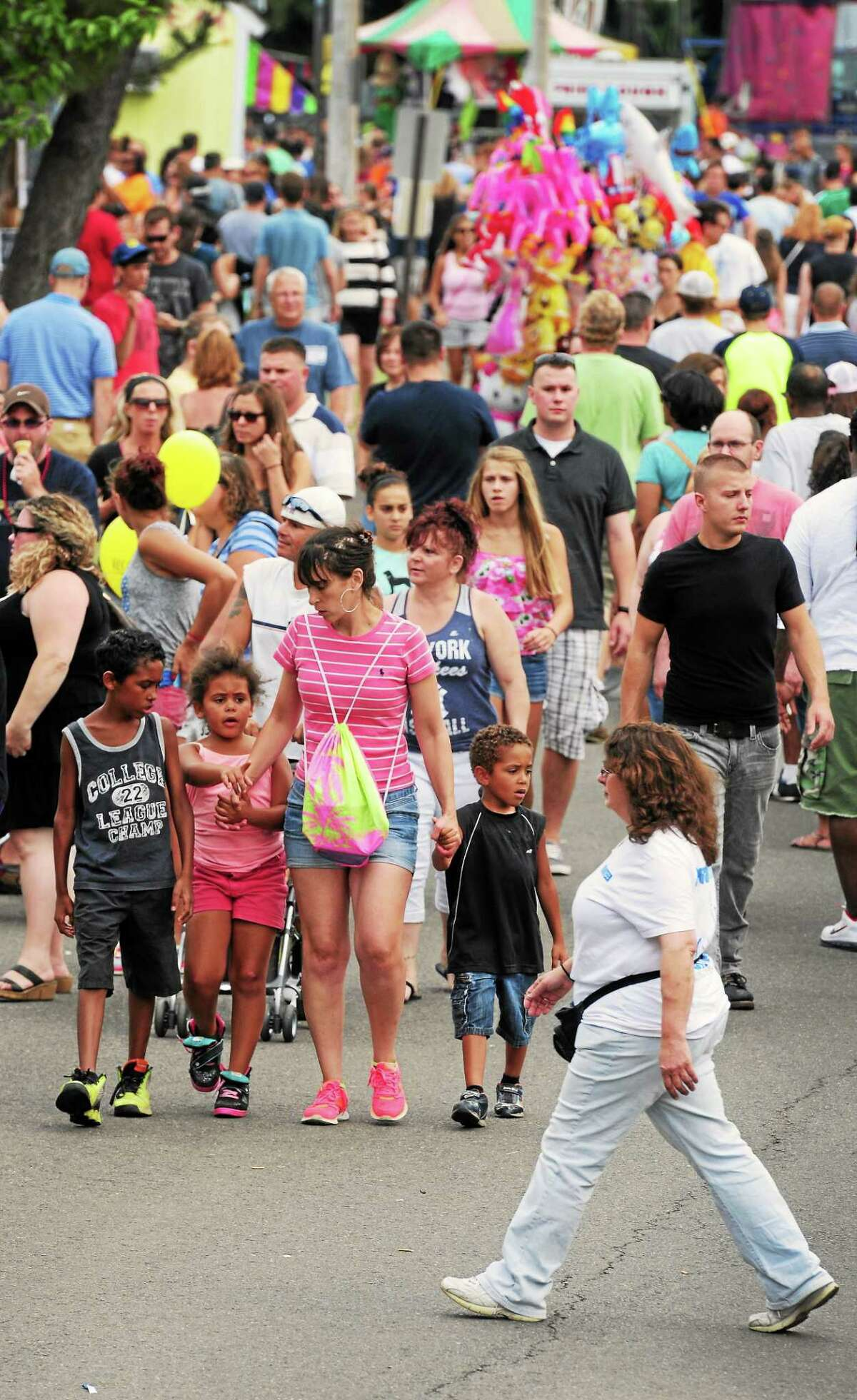 Milford Oyster Festival in Milford, Connecticut Saturday, August 16, 2014 that includes music group featuring Bret Michaels on the main stage.
