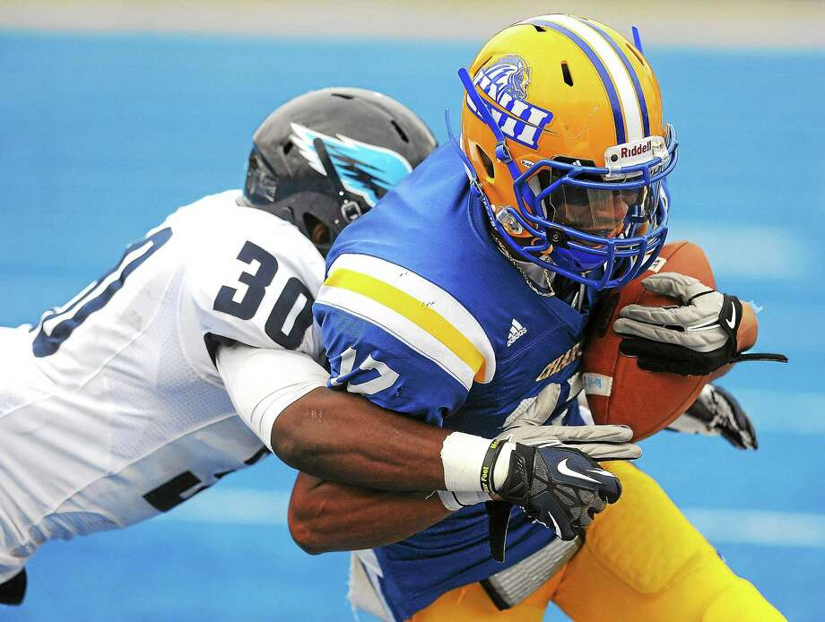 The University of New Haven and Southern Connecticut State meet in their annual rivalry game on Saturday. Both teams have losing records at the halfway point of the season. Photo: Peter Casolino — Register File Photo