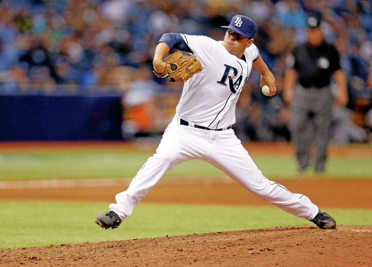 Tampa Bay Rays relief pitcher C.J. Riefenhauser makes his major league debut, throwing in the seventh inning of a 16-1 win over the Yankees.