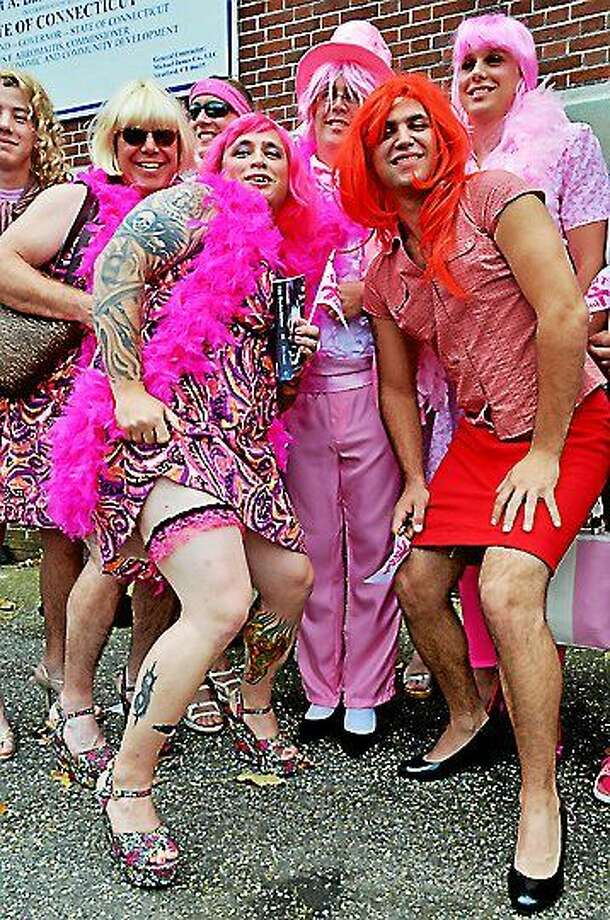 "Seymour ""Walk a Mile in Her Shoes""  for breast cancer awareness.  Melanie Stengel/Register Photo: Journal Register Co."