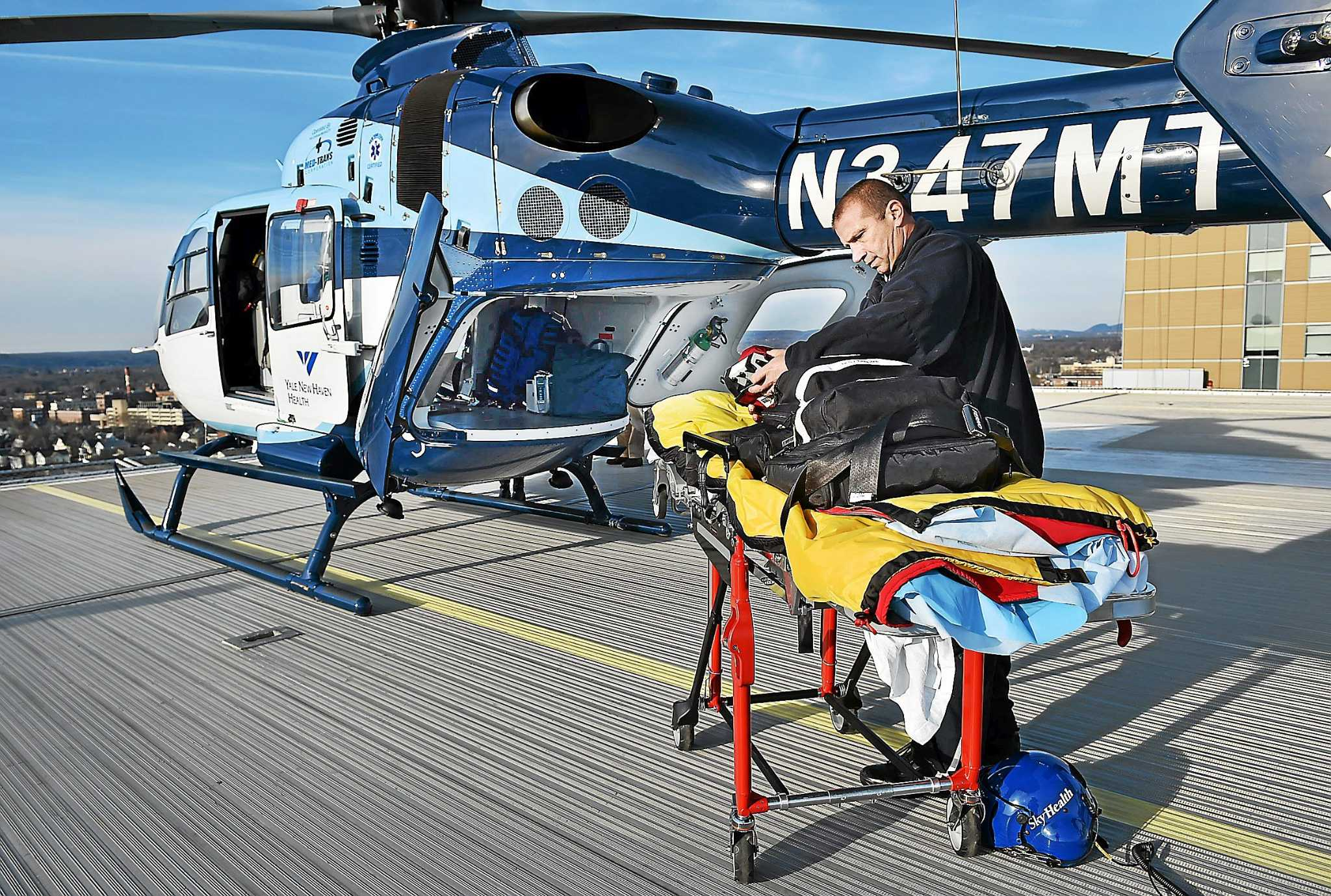 New Yale New Haven Hospital Helicopter Equipped For
