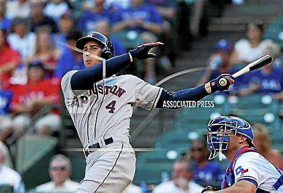 Take foreign players out of the mix and the Astros' George Springer would be the top candidate for the AL Rookie of the Year award. Photo: Ap File Photo