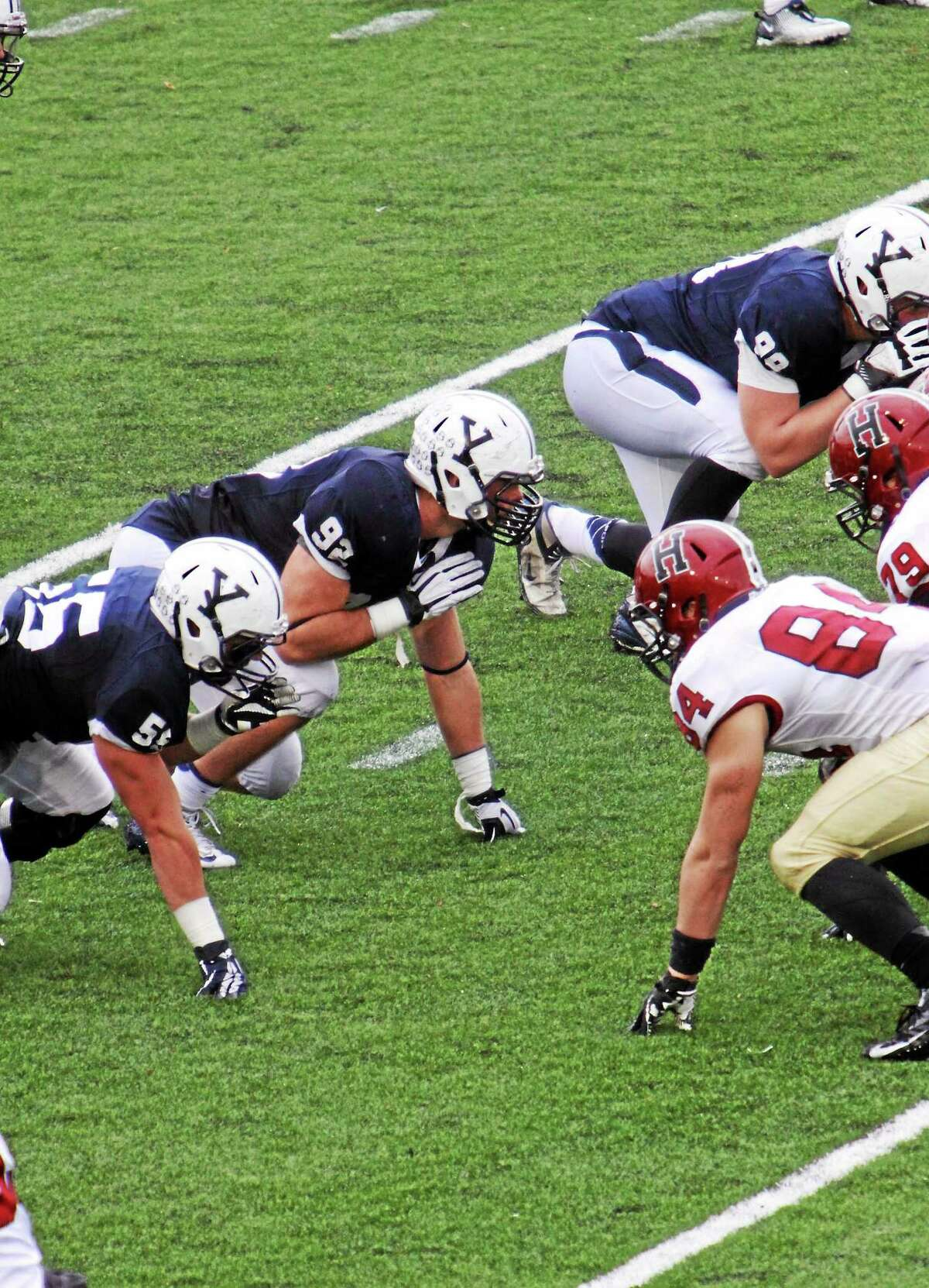 Yale's Peter Gerson is making the move from defensive end to tight end this season.