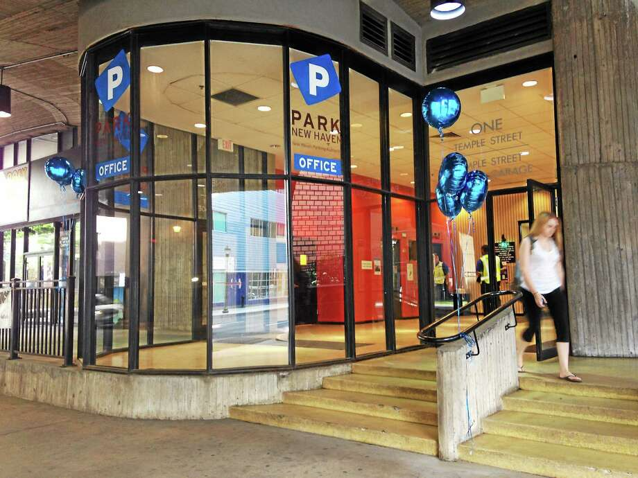 Park New Haven's new parking office at the George Street entrance of the Temple Street Garage. Photo: Journal Register Co.