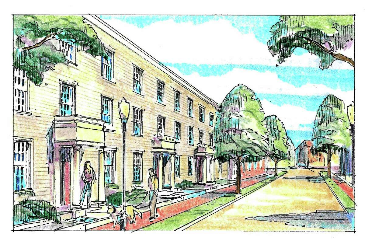 Image of the proposed renovation of the Star Supply property bound by State, Lawrence and Mechanic streets in New Haven.