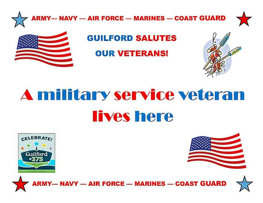 One of the signs being considered for Guilford veterans. Photo courtesy of John Henningson Photo: Journal Register Co.