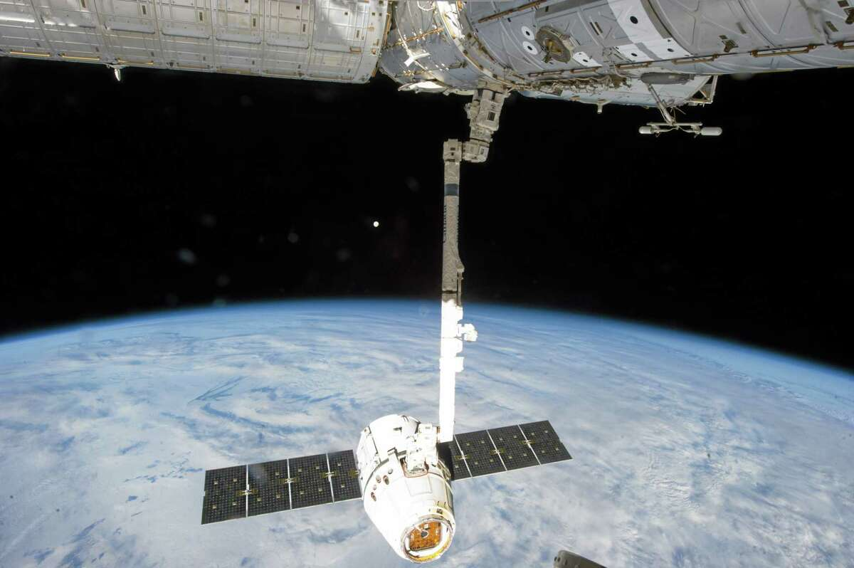 This March 26, 2013, photo shows the release of the SpaceX Dragon-2 spacecraft from the International Space Station.