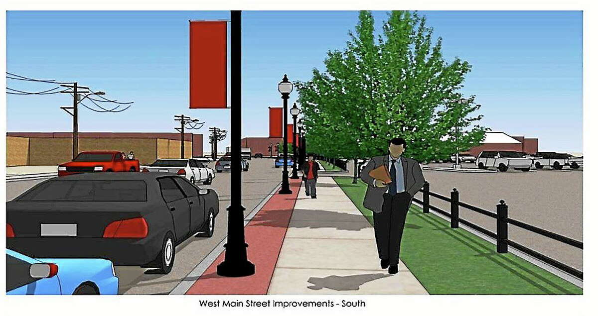 Rendering of concept for downtown Ansonia