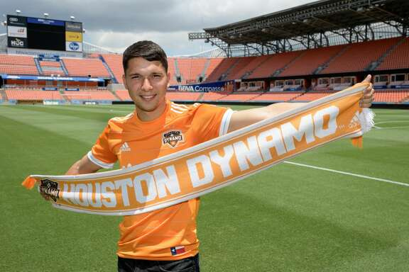 New Dynamo player Tomas Martinez at BBVA Compass Stadium.
