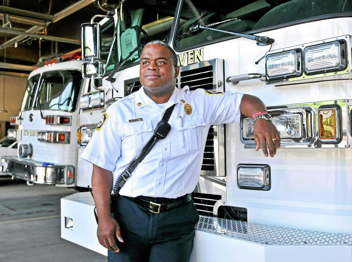 New Haven Fire Chief Ralph Black is retiring after a long and distinguished career at the department. pcasolino@newhavenregister.com