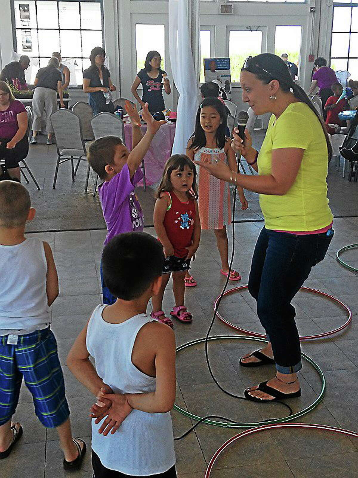 Children played lots of games at New Haven's 14th annual lead awareness picnic, while their parents, grandparents and dads learned about the dangers of lead poisoning.