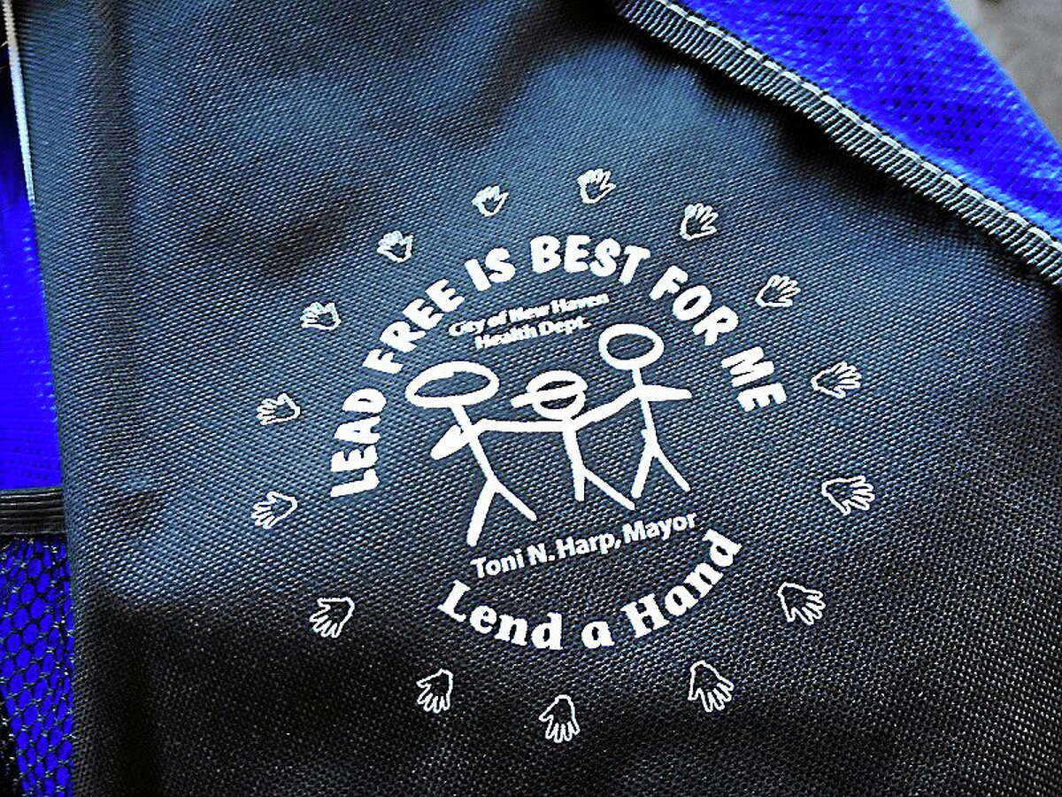 Backpacks filled with literature and fun items were handed out Sunday at a lead awareness picnic put on by New Haven's health department.
