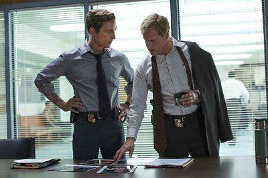 "This image released by HBO shows Matthew McConaughey, left, and Woody Harrelson from the HBO series ""True Detective,"" premiering Jan. 12, at 9 p.m. EST. (AP Photo/HBO, Michele K. Short) Photo: AP / AP2013"