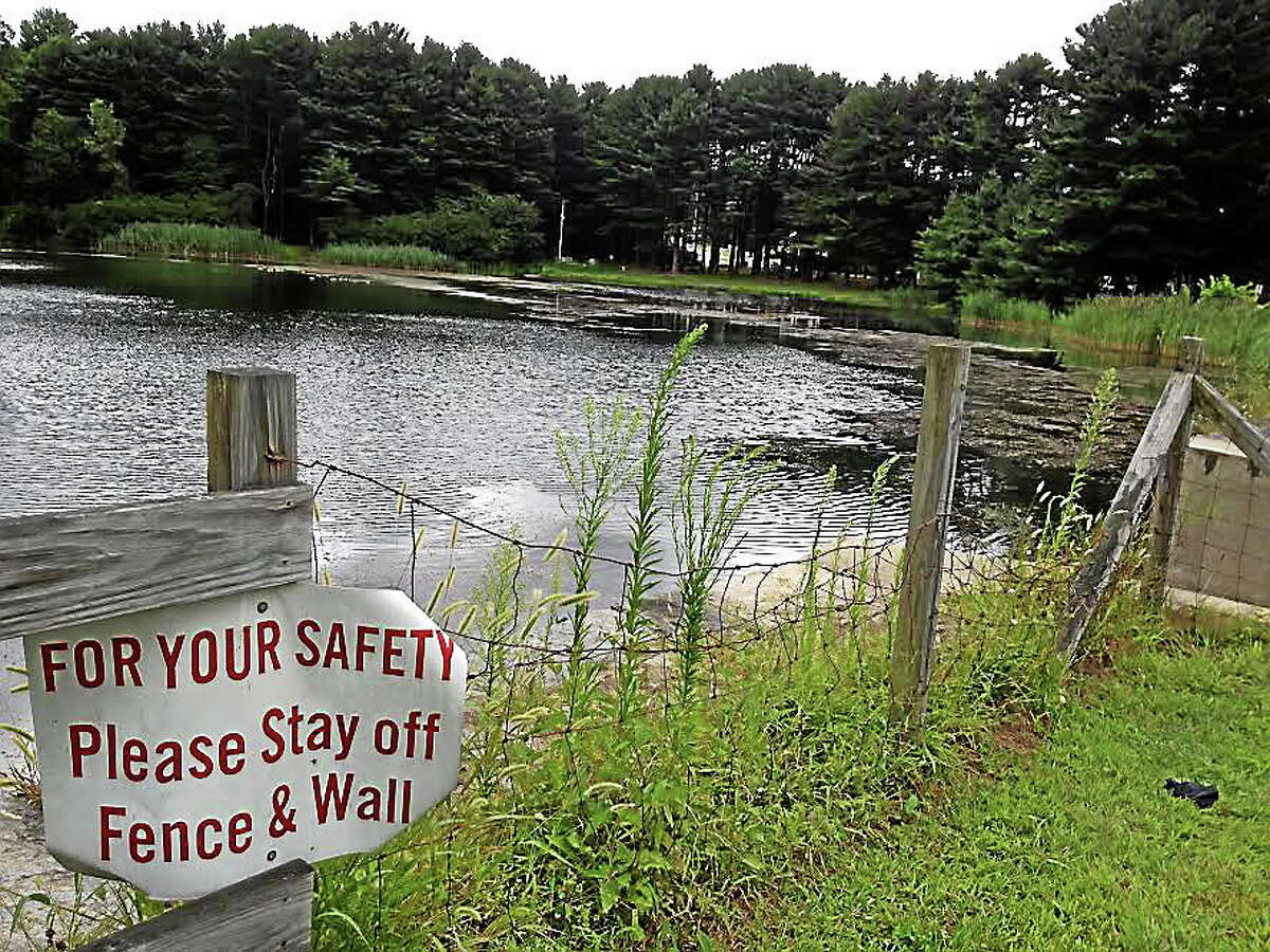 The water at Witek park near the scene where police found a 33-year-old Ansonia man dead early Tuesday morning. Police say the man apparently drowned.
