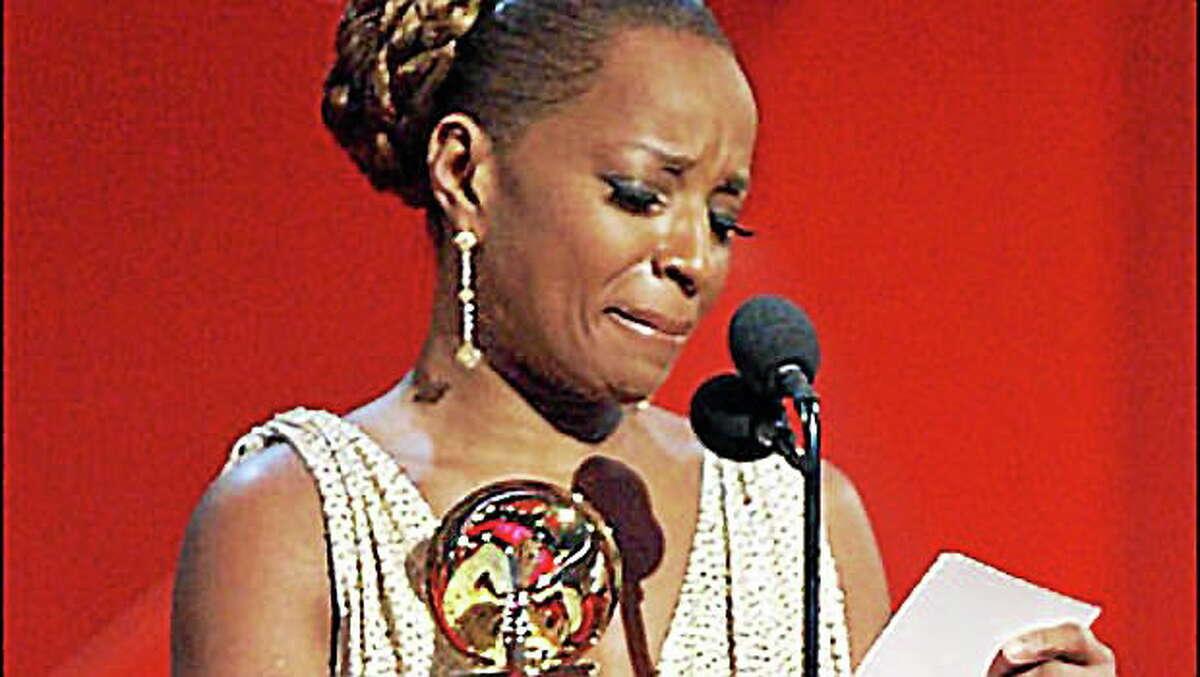 """Mary J. Blige winning a Grammy for her album """"The Breakthrough"""""""