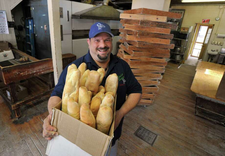 February 20, 2014 Hamden  Venice Bakery in Hamden is celebrating its 75th year in business. Owner Bruno Castaldi, of North Branford, with 'proofing boxes' behind him.  mlavitt@newhavenregister.com Photo: (Mara Lavitt - New Haven Register)    / Mara Lavitt