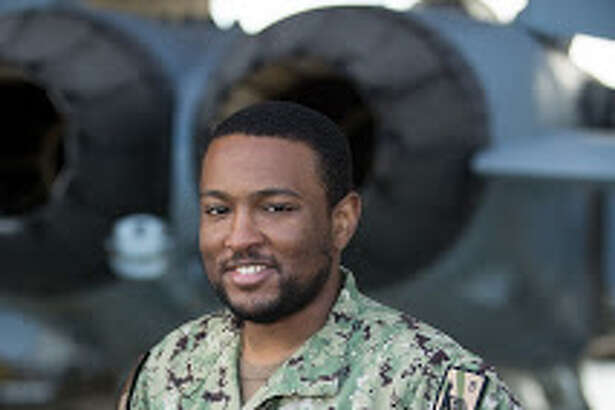 """Seaman Lavell Davis is a yeoman with the """"Black Ravens"""" of Electronic Attack Squadron."""