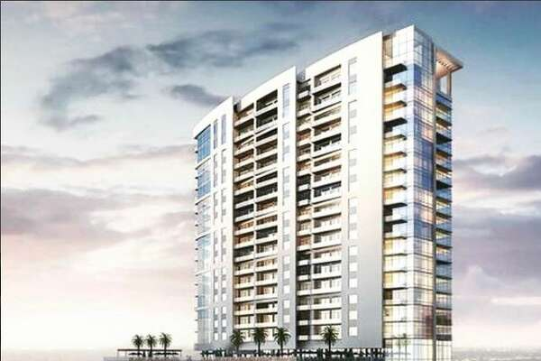Caydon's rendering of the 26-story tower coming to Midtown.