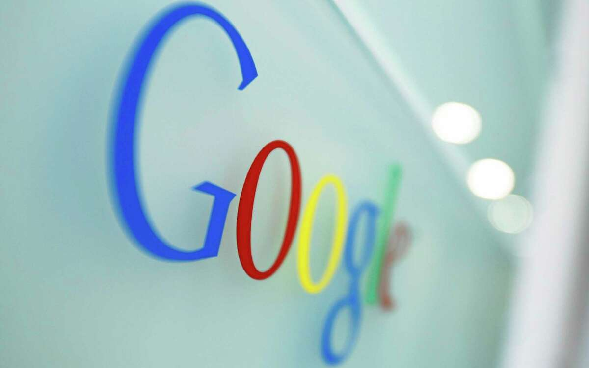 In this March 23, 2010, photo, the Google logo is seen at the Google headquarters in Brussels.