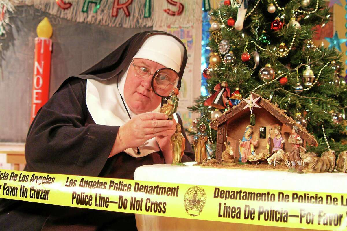 """Maripat Donovan, the creator of the """"Late Nite Catechism"""" shows, in a scene from the """"Sister's Christmas Catechism."""" The part in Branford will be played by Mary Zentmyer."""