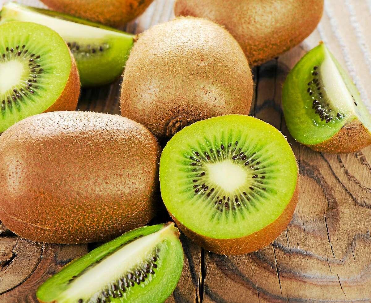 Kiwi contains plenty of vitamins and fiber.