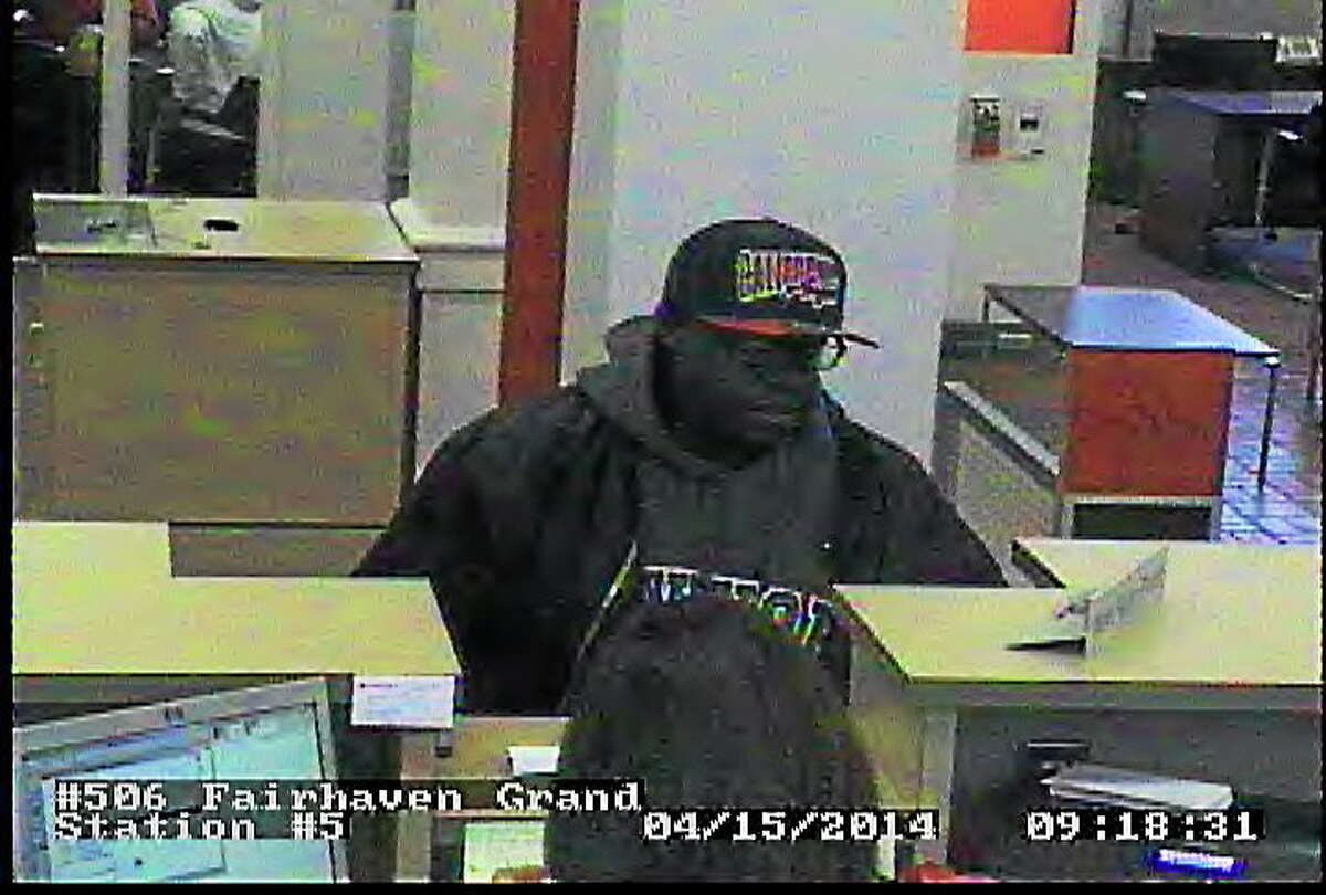 Surveillance photo of the alleged suspect, courtesy of New Haven Police.