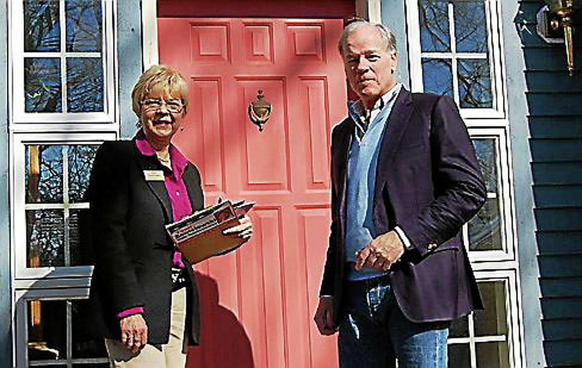 East Granby resident Tami Zawistowski and Republican gubernatorial candidate Tom Foley.