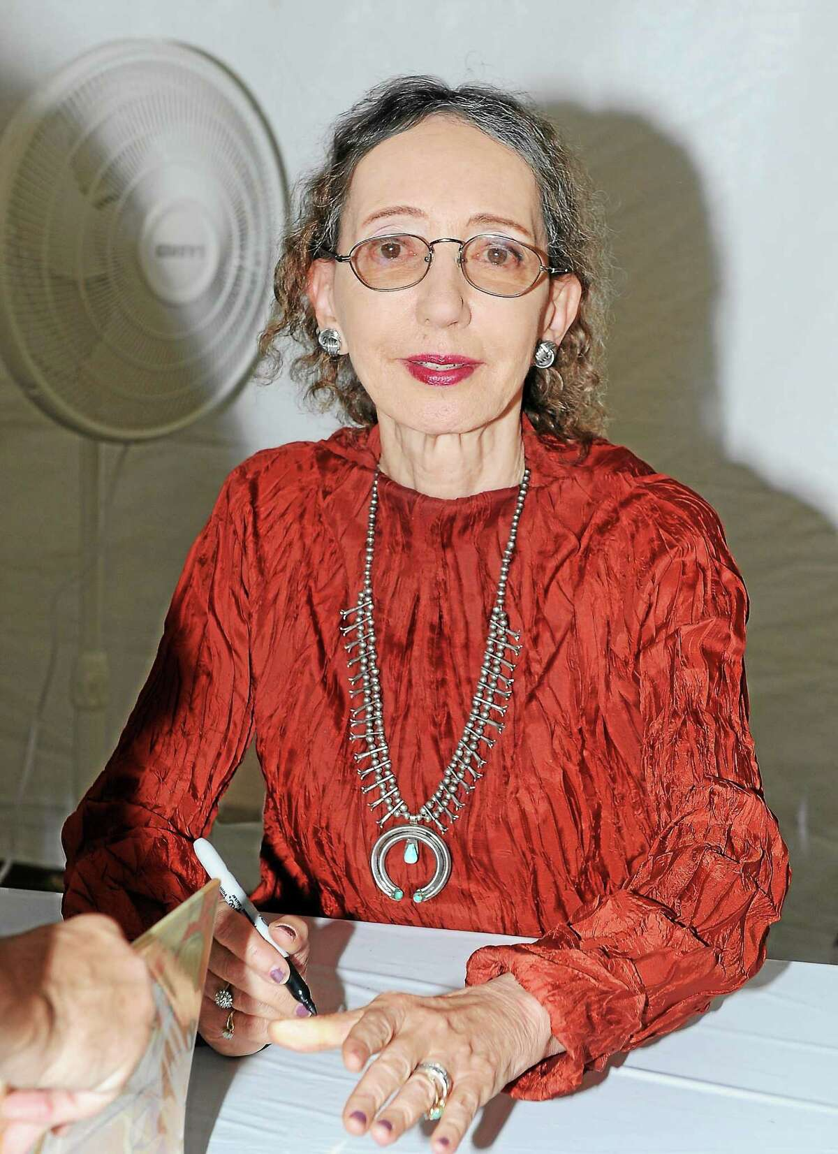 Joyce Carol Oates at the 2013 LA Times Festival of Books at the University of Southern California campus on Saturday April 21, 2013, in Los Angeles. (Photo by Katy Winn/Invision/AP)
