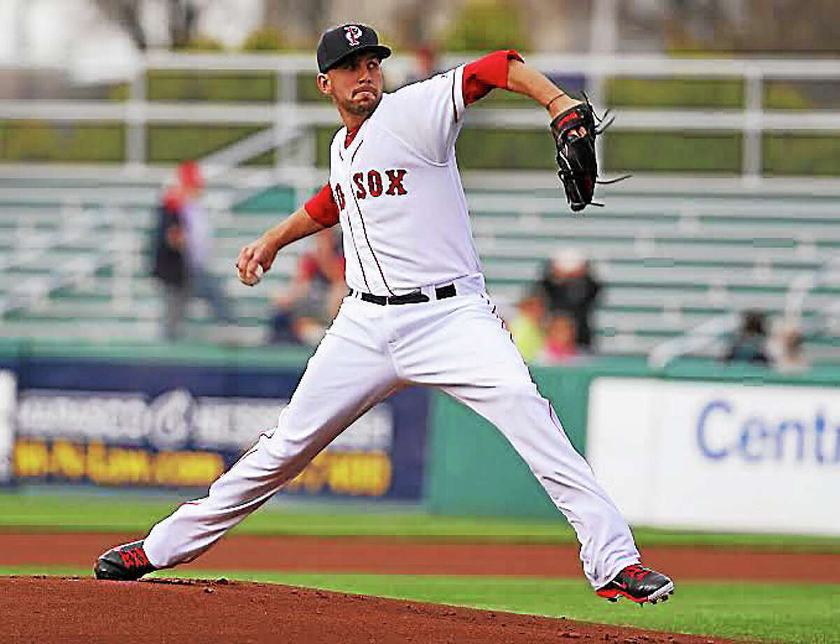 UConn product Matt Barnes hurled seven no-hit innings against the Columbus Clippers at McCoy Stadium on Aug. 2.