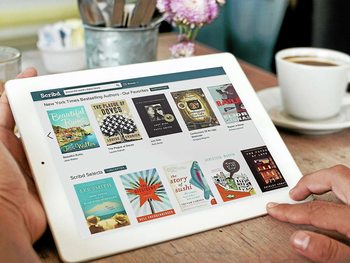This product image provided by Scribd shows the Scribd e-book app. Scribd and Oyster let you read as many books as you want for a monthly price _ $9 for Scribd and $10 for Oyster.