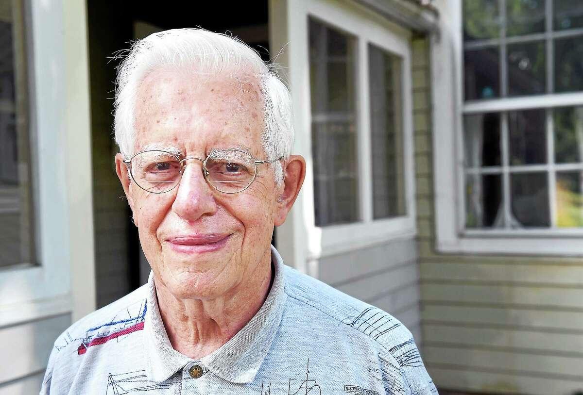 David Knapp at his home in Guilford.