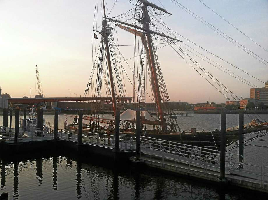 The Freedom Schooner Amistad in port in New Haven. Photo: File Photo