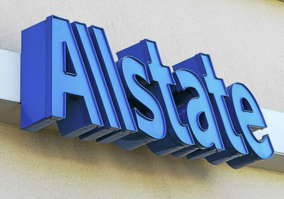 The Allstate logo is displayed at the insurance office, in Omaha, Neb., Tuesday, Aug. 3, 2010.