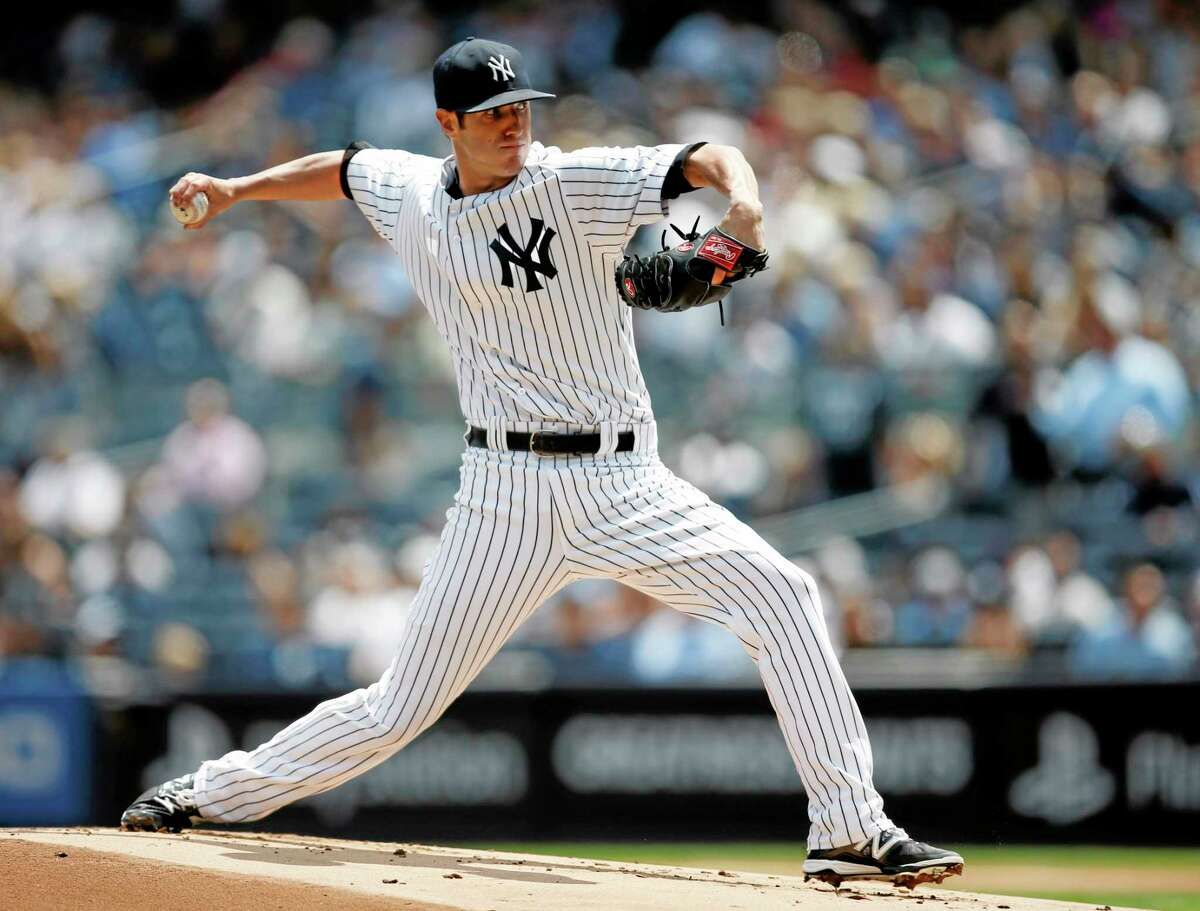 Yankees starting pitcher Shane Greene delivers in the first inning against the Detroit Tigers Thursday.