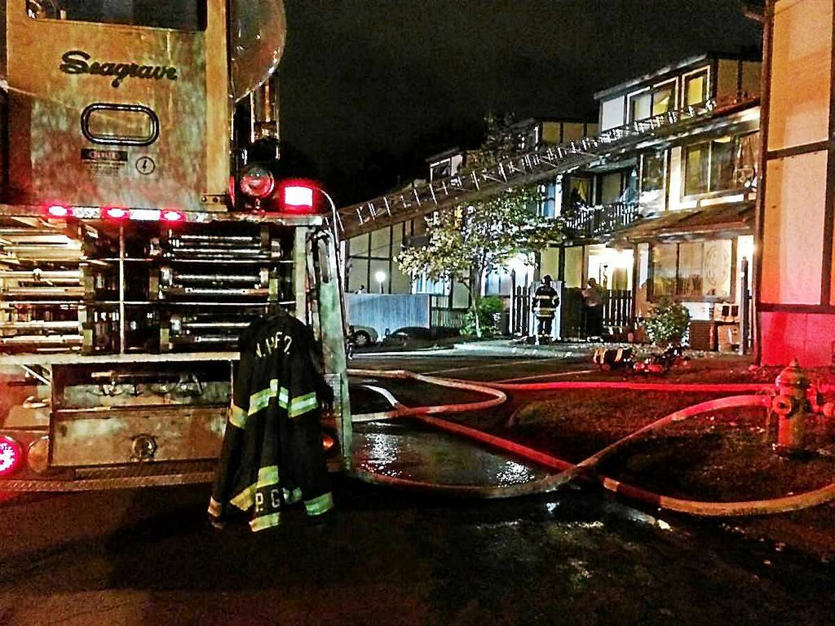The New Haven Fire Department responds to a fire at 473 Whalley Ave. in New Haven October 2, 2014.