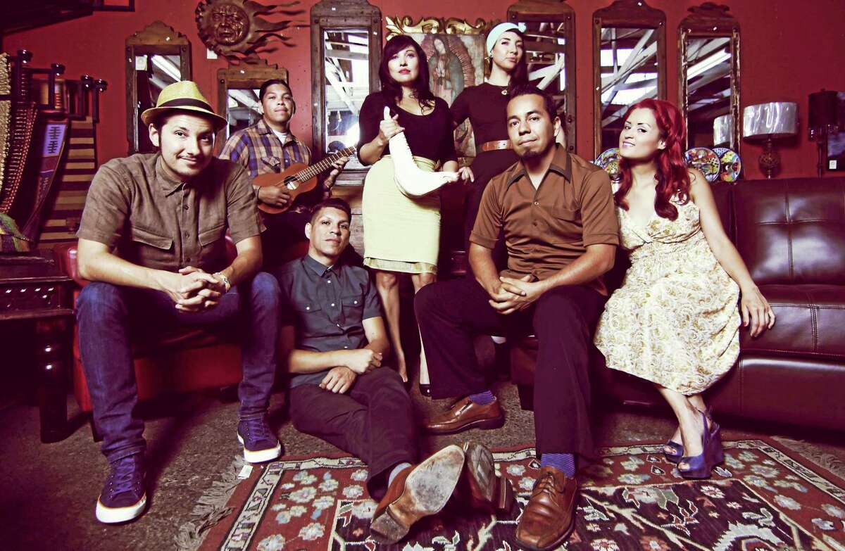 Las Cafeteras fuses folk music and spoken word with traditional Son Jarocho, the Afro-Mexican music of Veracruz, Mexico, hip-hop influences and zapateado dancing.