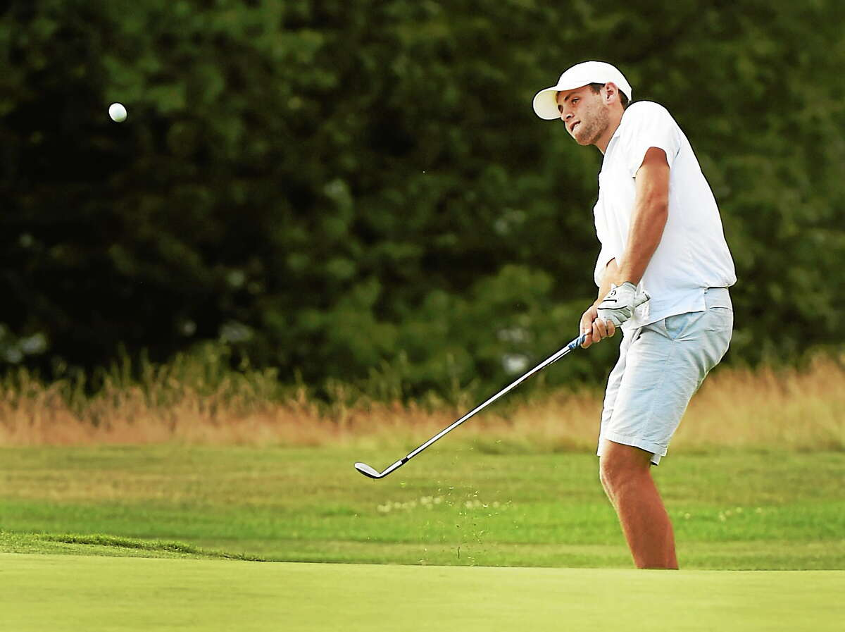 Will Bernstein gets out of the rough during the 13th Northern Junior Championship on Wednesday.