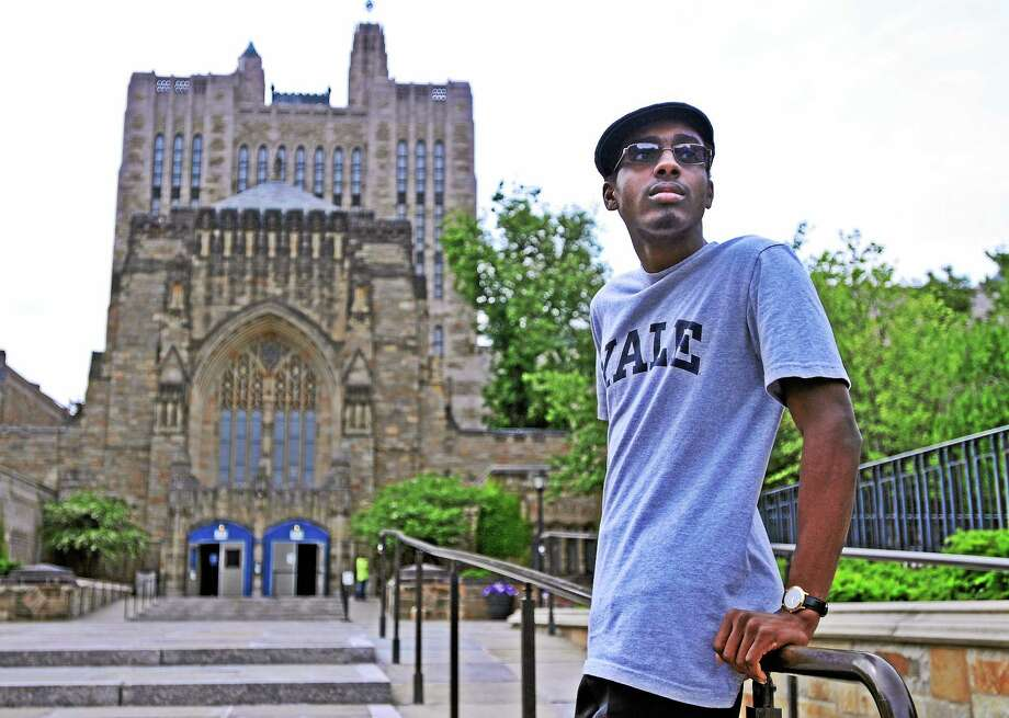 Co-Op High senior Ade Ben-Falahuddin will attend Yale University in the fall after carrying a 4.72 GPA through high school. pcasolino@newhavenregister.com Photo: (Peter Casolino-New Haven Register)