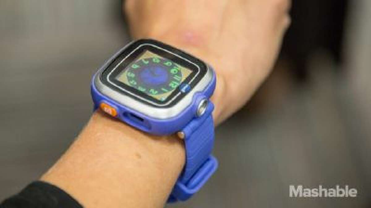 The KidiZoom Smart Watch - or what the company is calling the world's first smartwatch for kids -- allows users to play games and take pictures and video. It also tells time, of course.