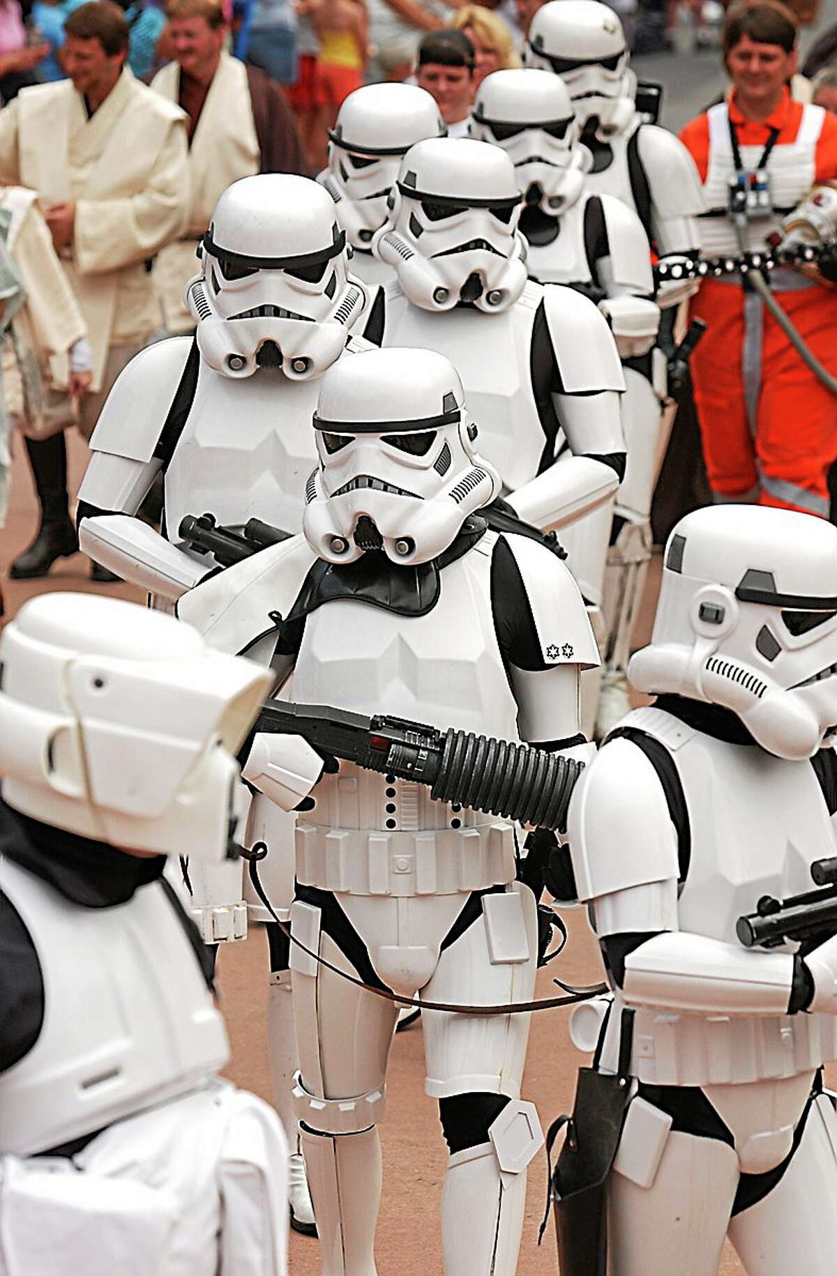 """Stormtroopers and other """"Star Wars"""" favorites will be at R.J. Booksellers in Madison Saturday."""