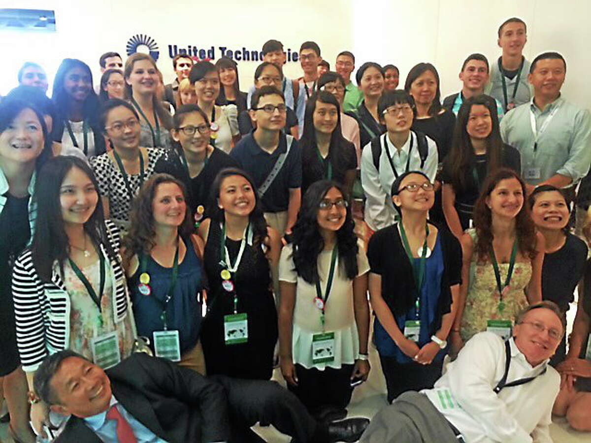 The students visited UTC in Shanghai for a day of workshops on innovation. Contributed photo