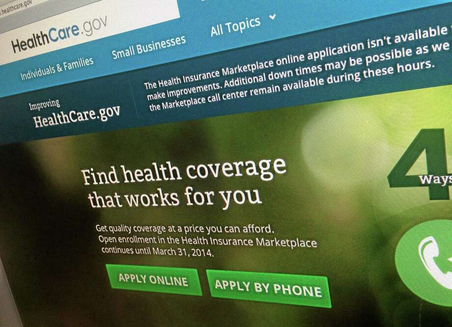 This photo of part of the HealthCare.gov website is photographed in Washington, on Nov. 29, 2013. (AP Photo/Jon Elswick) Photo: Ap / AP