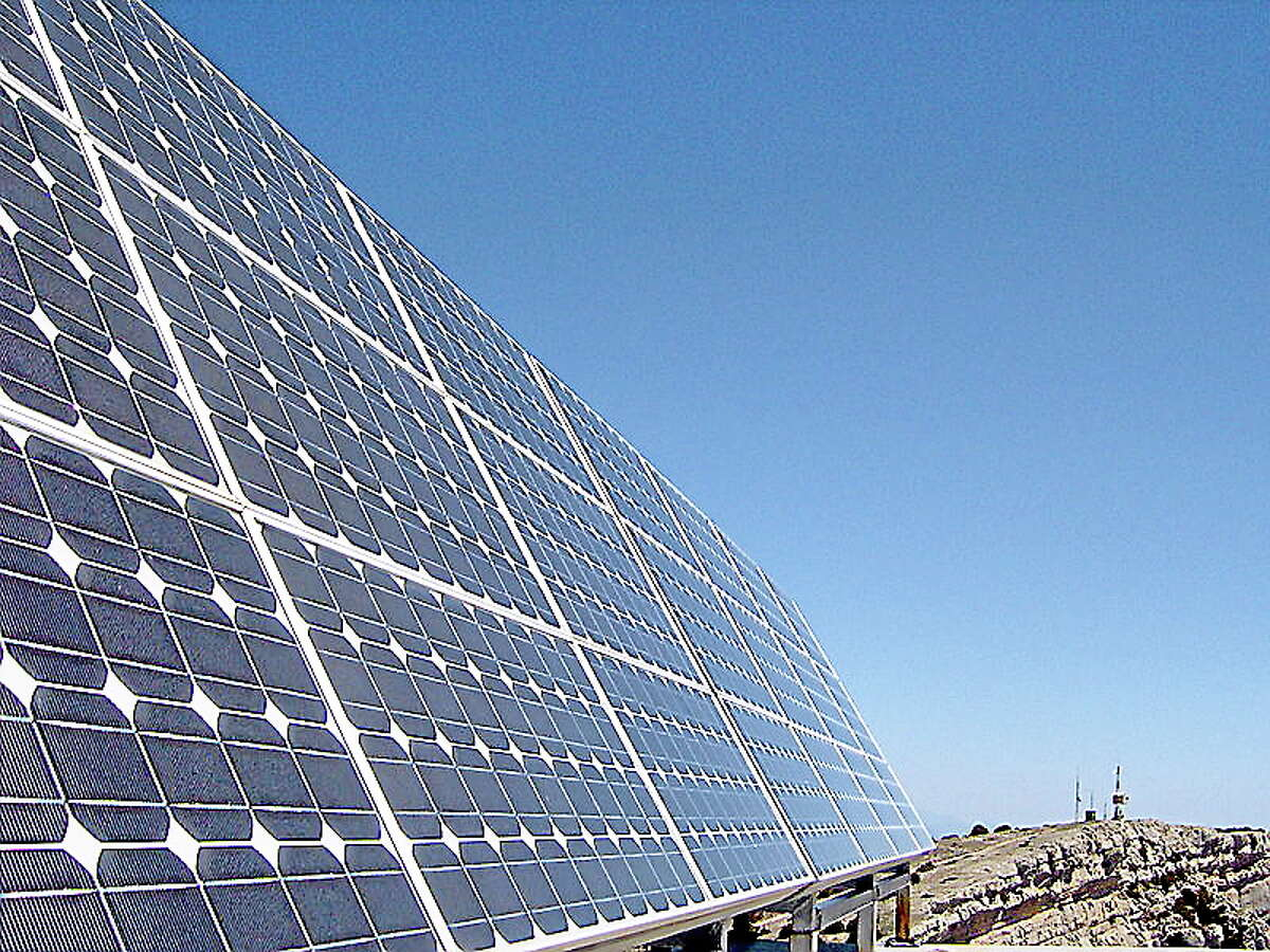 File photo depicts solar panels.